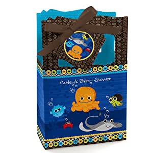under the sea critters personalized baby shower favor
