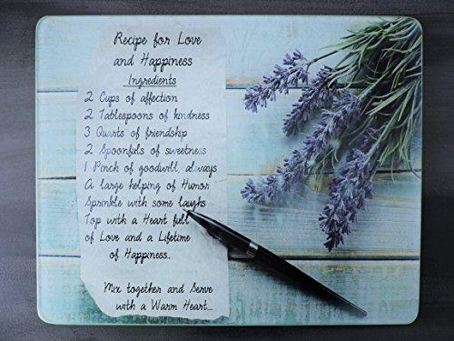 Cutting Board Recipe For Love On Glass (Recipe Board compare prices)