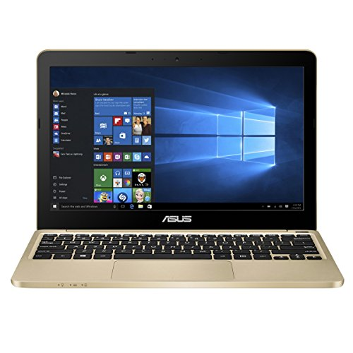 ASUS E200HA-UB02-GD Portable 11.6-Inch Intel Quad-Core Laptop 4GB RAM 32GB Storage, Windows 10, Aurora Gold.