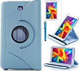 Tab 4 7.0 Case, AiSMei Rotating Case For Samsung Galaxy Tab 4 7.0 SM-T230,SM-T231, SM-T230NU Tablet PC,7-Inch PU Leather Case [Bonus Stylus+Screen Protector] -Light Blue (Color: Light Blue, Tamaño: 7 Inch)