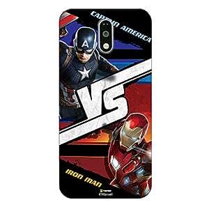 Hamee Marvel Civil War Captain America Iron Man Licensed Hard Back Case Cover For Lenovo K4 Note Cover - Design 20