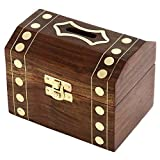 "Christmas Gift Money Bank - Wooden Handmade Coin Money Box For All Wooden Decor - 5"" X 3"" X 3"""