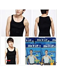 Sexy Slim'N Lift Slimming Shirt Vest Valugaze For Men S-XL 2 Color - White