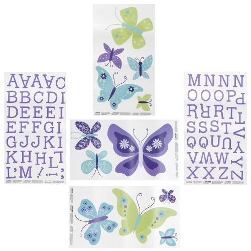 NoJo Beautiful Butterfly Decals - 1