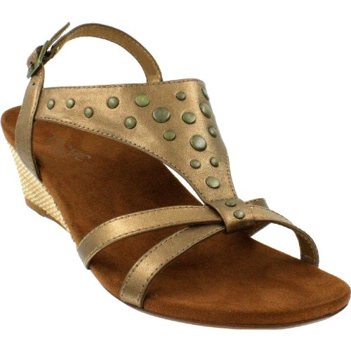 Bronze Wedge Sandals front-1029501