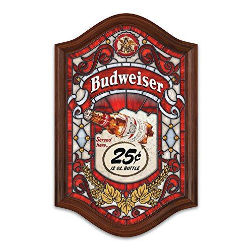 Budweiser Light Up Stained Glass Wall Decor by The Bradford Exchange