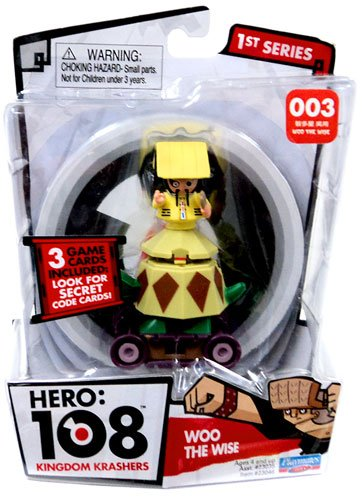Hero 108 Kingdom Krashers Series 1 Action Figure #003 Woo the Wise - 1