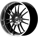 """Helo HE845 Gloss Black Wheel With Machined Face (17x7.5""""/5x115, 120mm, +42mm offset)"""