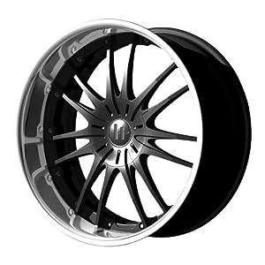 "Helo HE845 Gloss Black Machined Wheel - (17x7.5""/4x100mm)"