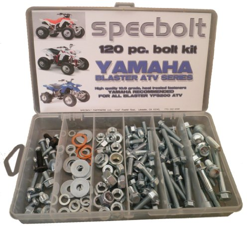 Specbolt Yamaha Blaster Bolt Kit for Maintenance & Restoration OEM Spec Fasteners ATV Quad
