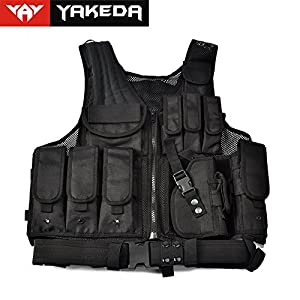 Yakeda® Army Fans Tactical Vest Cs Swat Tactical Vest Army Fans Outdoor Vest Cs Game Vest,cs Field Vest Cosplay of Counter Strike Game--vt-1063(black) by Yakeda