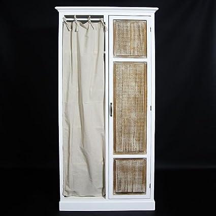Armario con cortina 1puerta de madera | uparm