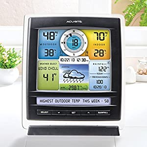AcuRite 01078M Pro Color Weather Station with Two Displays and Rain/Wind/Count Temperature/Humidity from Chaney Instruments