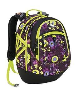 High Sierra 5420-1133 19.5x13x7-Inch Fat Boy Backpack (Purple/Chartreuse Flower)