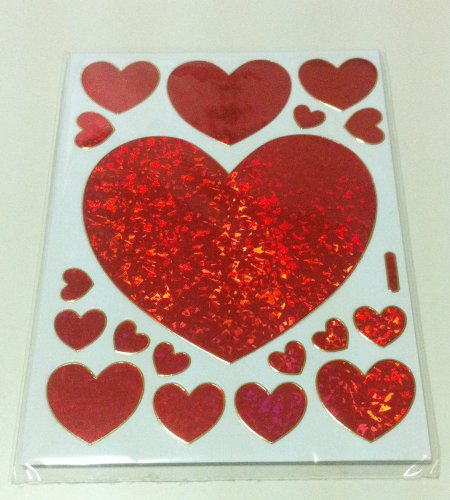 Glitter Hearts Sticker for Valentine's Day - 1