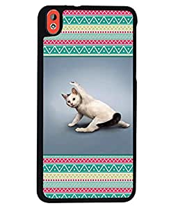 Printvisa 2D Printed Cat Designer back case cover for HTC Desire 816 - D4273