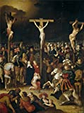 'Caulery Louis De La Crucifixion ' Oil Painting, 10 X 13 Inch / 25 X 34 Cm ,printed On High Quality Polyster Canvas ,this High Resolution Art Decorative Canvas Prints Is Perfectly Suitalbe For Garage Decor And Home Gallery Art And Gifts
