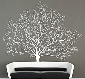 OneHouse Birch Tree Wall Decal with Flying Bird Wall Sticker Wall Mural from OneHouse