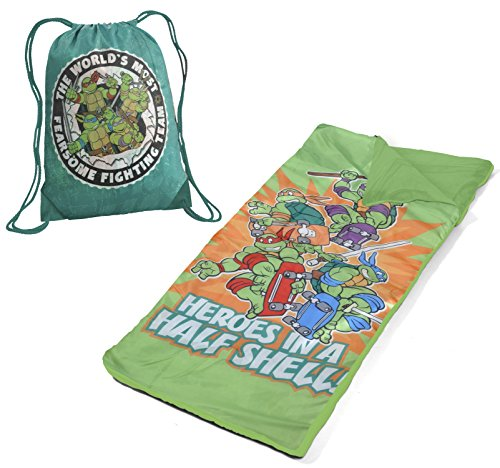 Nickelodeon WN340342 Ninja Turtles Toddler Nap Mat with Carry On Bag - 1