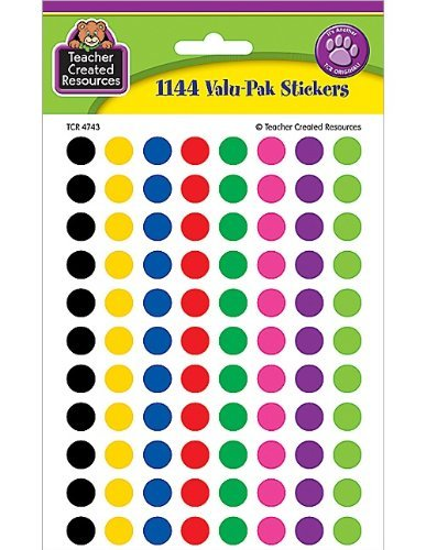 Teacher Created Resources Colorful Circles Mini Stickers Value Pack, Multi Color (4743) by Teacher Created Resources - 1