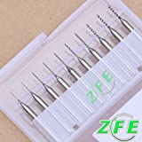 10 Pcs Carbide Micro Drill Bits 0.3mm-1.2mm CNC PCB Dremel