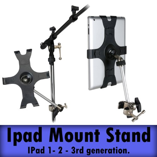 Talent Ims-1 Ipad 1-2 - Ipad 3 And Mini Ipad Microphone Stand Adapter Holder Mount Ipad Music Mic Clamp Apple Multimedia Notepad Thorn Holder Talent Ipad 3-2-1 3Rd Generation Ipad Ims-1 Music And Mic Stand Holder Clip For Apple Ipad