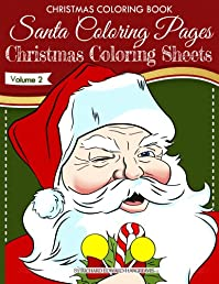 (FREE on 11/26) Christmas Coloring Book - Santa Coloring Pages -  Christmas Coloring Sheets - V2 by Richard Hargreaves - http://eBooksHabit.com