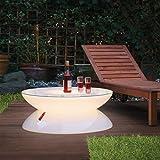 moree Bodenleuchte Lounge Outdoor, Weiß, Kunststoff, 04-03-01