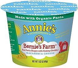 Annie\'s Homegrown Mac and Cheese Micro Cups: Single Pack - Bernie\'s Farm - 2.01 oz - 12 Pack