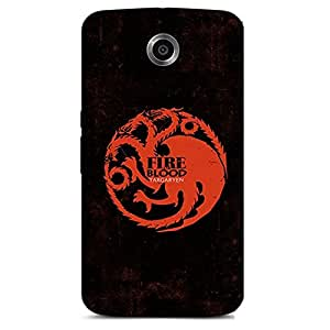 GAME OF THRONE-FIRE AND BLOOD BACK COVER FOR GOOGLE NEXUS 6
