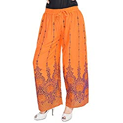 Soundarya Women Palazzo Pants-Orange,PL17