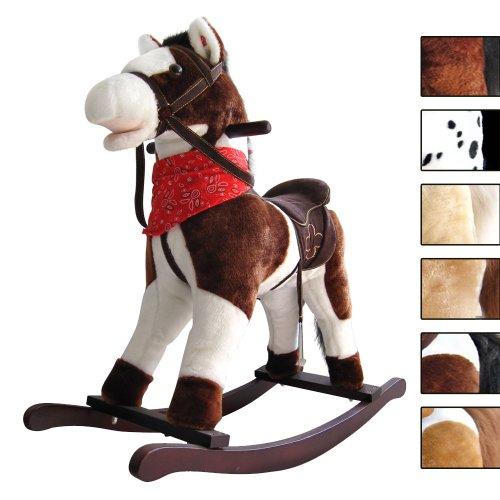 Infantastic - Cheval à Bascule en Bois et Peluche à Effets Sonores (Paint-Horse)