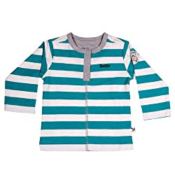 Buzzy Baby Boys' Cotton Long Sleeve T-Shirt With Front Placket (DALLAS_Green_9-12M)