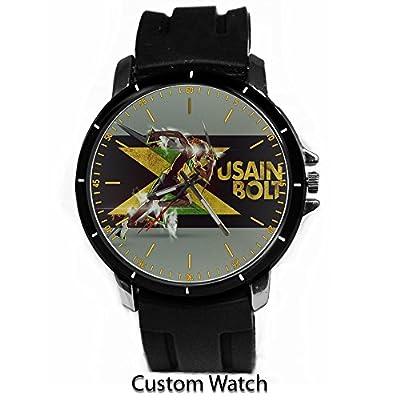 Usain Bolt Jamaica Sprinter Custom Watch
