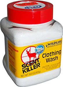 Wildlife Research Super Charged Scent Killer Powder Clothing Wash (16-Ounce) by Wildlife Research