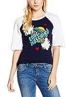 Love Moschino Camiseta Manga Corta (Azul Marino)