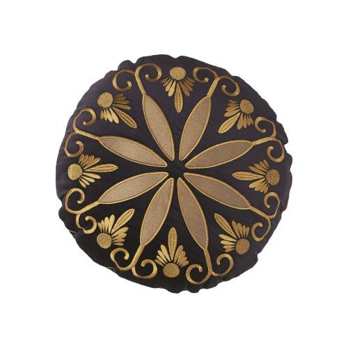 Modern Living Modern Living Tivoli Circular Velvet Quality Decorative Pillow, Purple, Cotton front-551699