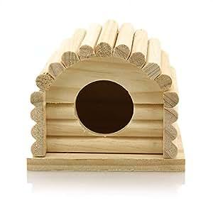 facilla holzhaus bett f r kleintiere bogendesign amazon. Black Bedroom Furniture Sets. Home Design Ideas