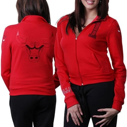 Chicago Bulls NBA Womens Full Zip Track Jacket (Red) L at Amazon.com