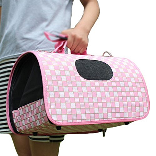 M Size Carry Bag Sweet Cute Pet Home Dog Cat Carrier House Travel—Pink
