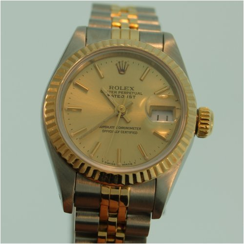 Rolex SA2517 Oyster Perpetual Women's Two-Tone 18k Gold & Stainless Steel