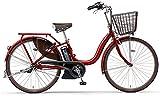 YAMAHA(ヤマハ) 電動アシスト自転車 2017年モデル PAS ナチュラM 24インチ リッチレッド 6.2Ahリチウムイオンバッテリー搭載 PA24NM