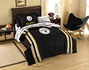 Pittsburgh Steelers NFL Twin Comforter, Sheets and Sham (5 Piece Bed in a Bag) by NFL