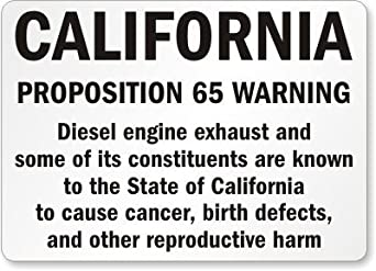 california proposition  warning diesel engine exhaust     constituents