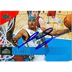 J.R. Smith Autographed Hand Signed Basketball Card (New Orleans Hornets) 2006 Upper...