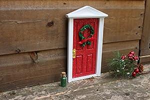 Christmas red fairy door