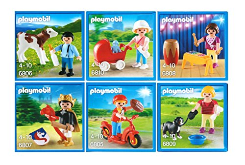 playmobil-characters-set-of-6-includes-boy-with-scooter-farmer-and-cow-knight-girl-walking-dog-girl-