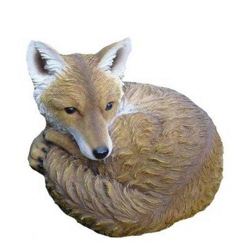 Sleeping Fox Animal Garden Ornament Decoration