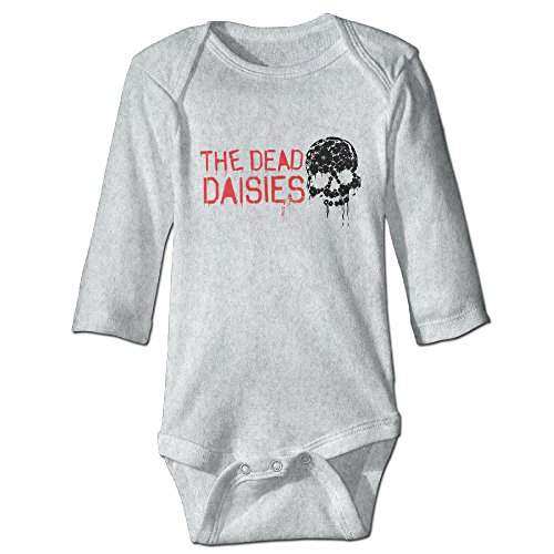 [DETED The Dead Daisies Skull Cute Newborn Baby Climb Clothes Size24 Months Ash] (Daisy Duck Costumes For Toddlers)