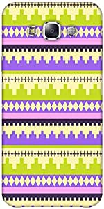Snoogg Brick Aztec Solid Snap On - Back Cover All Around Protection Forsamsun...